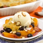 Fruit of the Day Cobbler with Cinnamon Almond Topping