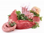 assorted fresh raw meats