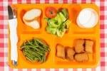 school meal food tray