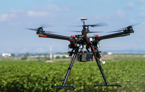 Hexacopter UAV drone in support of agriculture