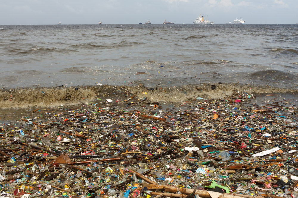 dumping rubbish inside all the ocean
