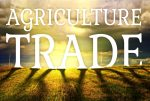 Agriculture trade concept with farm field landscape-farm vote