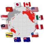 TPP(Trans-pacific partnership) and Negotiating countrie's flags-vietnam
