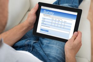 Digital Tablet Showing Conservation Survey Form